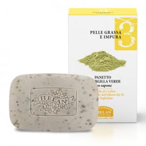 Helan LINEA VISO 3 - Pelle Grassa e Impura - Panetto all' Argilla Verde 100 ml