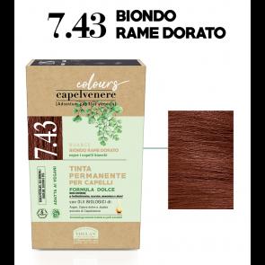Helan CAPELVENERE COLOURS Tinte Permanenti - 7.43 BIONDO RAME DORATO