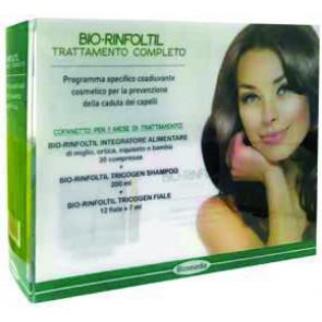 Biomeda Trattamento completo CADUTA BIO RINFOLTIL integratore+shampo+fiale