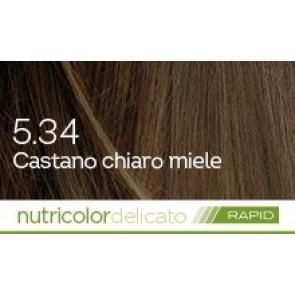 Bios Line Biokap Nutricolor Tinta Delicato Rapid 135 ml - 5.34 CASTANO CHIARO MIELE