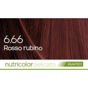 Bios Line BioKap Nutricolor Tinta Delicato Rapid 135 ml - 6.66 ROSSO RUBINO