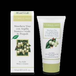L'Erbolario Maschera Viso per Pelli Miste e Grasse 50 ml