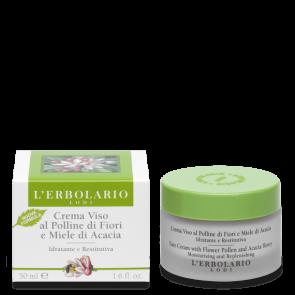 L'Erbolario Crema Viso al Polline di Fiori e Miele di Acacia 50 ml