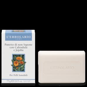 L'Erbolario Panetto di non Sapone per Pelli Delicate e Sensibili 75 g