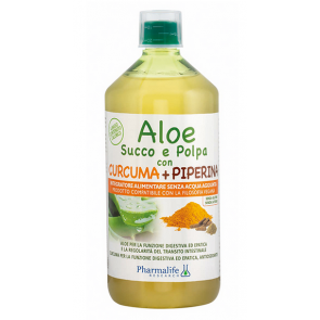 Pharmalife Research - Aloe Succo e Polpa con Curcuma + Piperina - 1 L