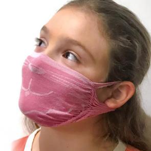 GUAM Mascherina Filtrante Batteriostatica Idrorepellente per BAMBINA  - Fluoro Free -