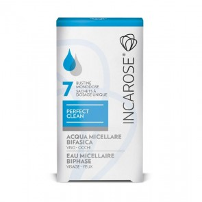 Incarose Perfect Clean acqua micellare bifasica viso occhi 7 bustine 4 ml.