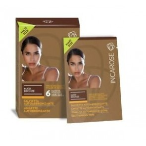 Incarose Maxi Bronze 6 Salviette Viso/Dec. Veg. Stam. - 6x10 ml