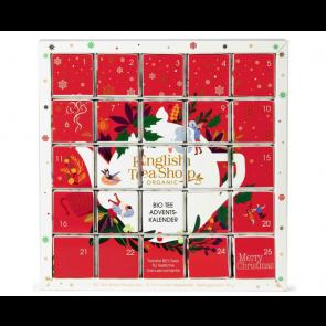 English Tea Shop Bio Advent Calendar - Red Christmas