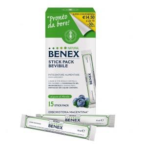 Erboristeria Magentina STICK PACK BEVIBILE NATURAL BENEX  15 Stick pack